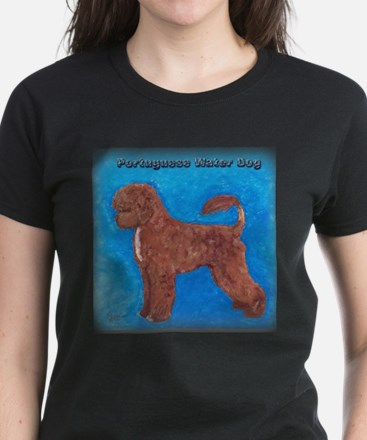 Brown Portuguese Water Dog Women's Dark T-Shirt