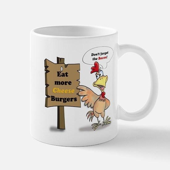 Eat More Burgers Mugs