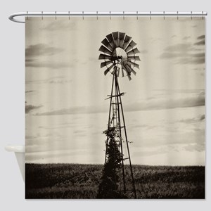 Iowa Farm Windmill Shower Curtain