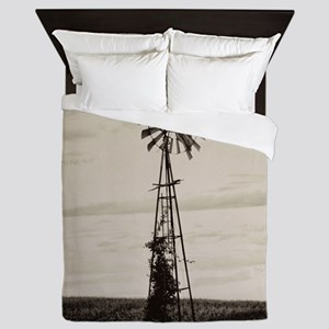 Iowa Farm Windmill Queen Duvet