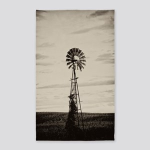 Iowa Farm Windmill Area Rug