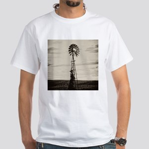 Iowa Farm Windmill White T-Shirt