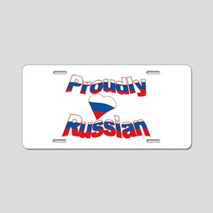 Proud to be Russian Aluminum License Plate