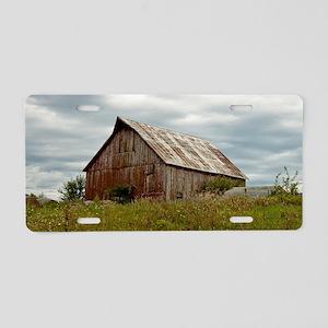 Rustic Iowa Barn Aluminum License Plate