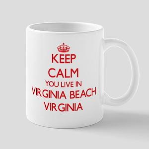 Keep calm you live in Virginia Beach Virginia Mugs