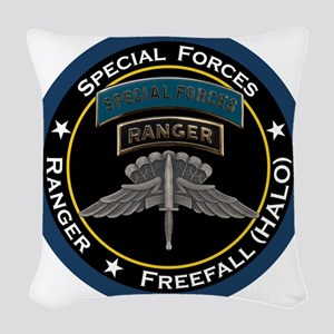 SF Ranger HALO Woven Throw Pillow
