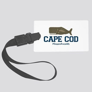 Cape Cod - Whale Design. Large Luggage Tag