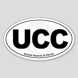 UCC United Church of Christ Euro Oval Sticker