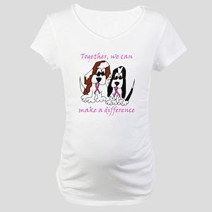The Basset Boys Wear Pink Maternity T-Shirt