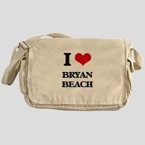 I Love Bryan Beach Messenger Bag