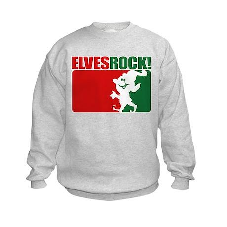 Elves Rock! Kids Sweatshirt