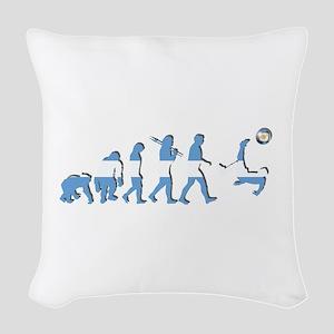 Argentinia Soccer Evolution Woven Throw Pillow