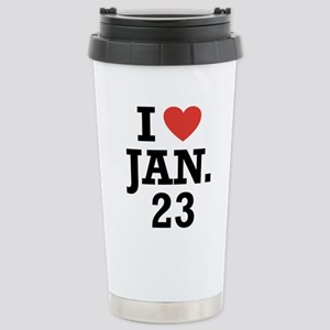 I Heart January 23 Mugs