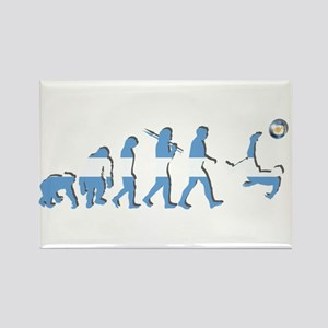Argentinia Soccer Evolution Rectangle Magnet