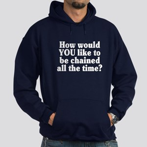 Would YOU like to be chained? - Hoodie (dark)
