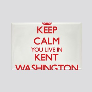 Keep calm you live in Kent Washington Magnets