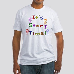 Story Time w Stick Kids Fitted T-Shirt