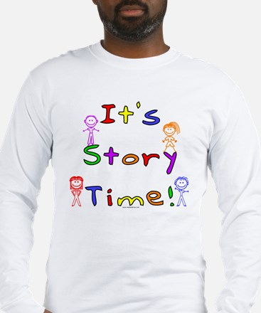 Story Time w Stick Kids Long Sleeve T-Shirt