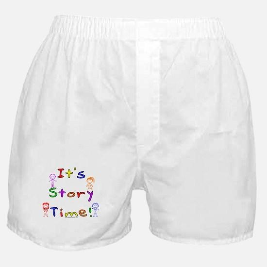 Story Time w Stick Kids Boxer Shorts