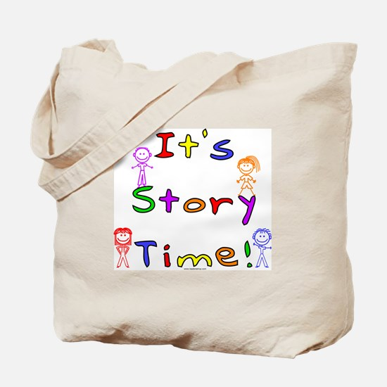 Story Time w Stick Kids Tote Bag