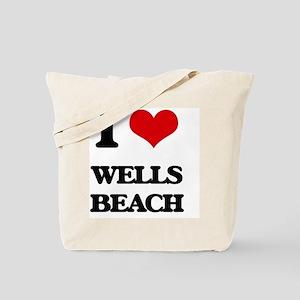 I Love Wells Beach Tote Bag
