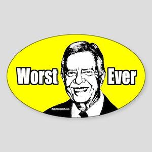 Carter - Worst Ever Oval Sticker