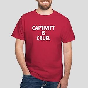 Captivity is cruel - Dark T-Shirt