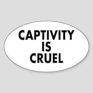 Captivity is cruel - Sticker (Oval)