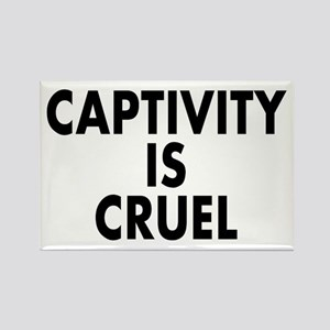 Captivity is cruel - Rectangle Magnet