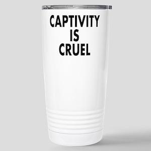 Captivity is cruel - Stainless Steel Travel Mug