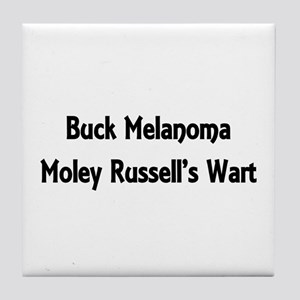 Buck Melanoma Tile Coaster