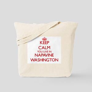 Keep calm you live in Napavine Washington Tote Bag