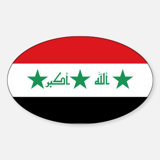 Flag of iraq sticker oval