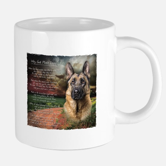 """Why God Made Dogs"" GSD Mugs"