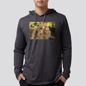 golden retriever grass Long Sleeve T-Shirt