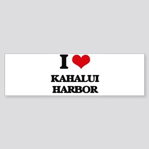 I Love Kahalui Harbor Bumper Sticker