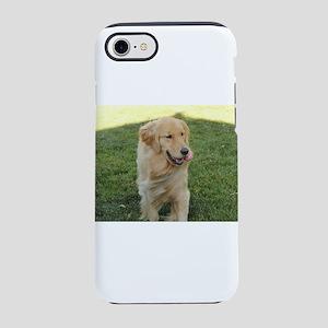 golden retriever dog on grassi iPhone 7 Tough Case