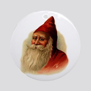 Red Santa Ornament (Round)