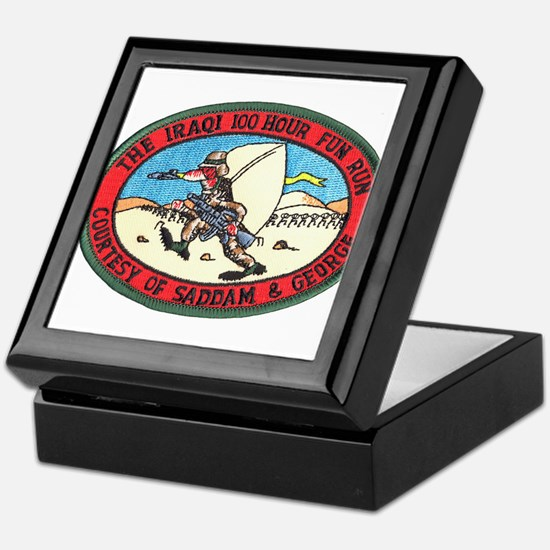 Iraq 100 Hour Fun Run Keepsake Box