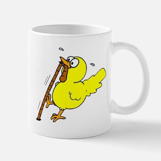 Chick With Worm Mugs