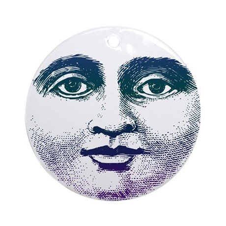 Moon Face Ornament (Round)