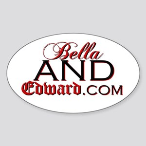 """BellaAndEdward"" Oval Sticker"