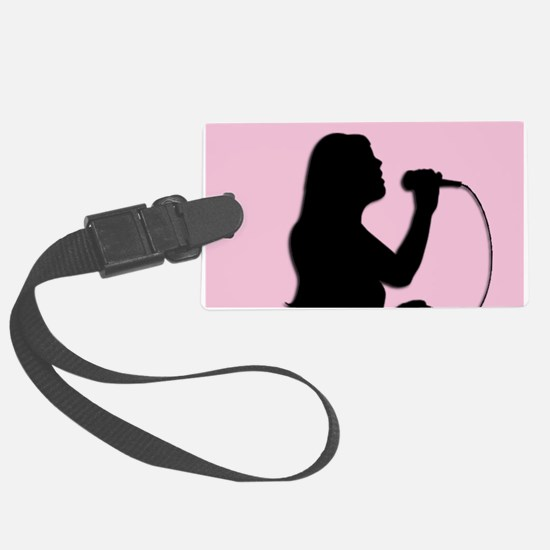 Female Singer Pink Luggage Tag
