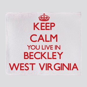 Keep calm you live in Beckley West V Throw Blanket