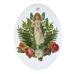 Flower Fairy Oval Ornament