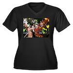 Fire Faerie Women's Plus Size V-Neck Dark T-Shirt