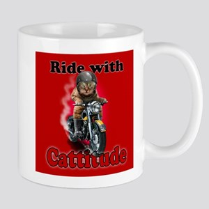 Ride with Cattitude Mugs