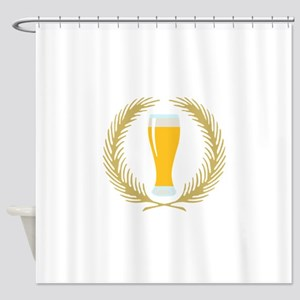 BEER WREATH Shower Curtain