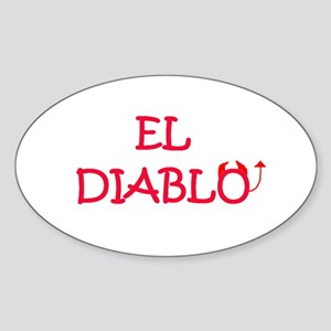 EL DIABLO Oval Sticker