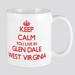 Keep calm you live in Glen Dale West Virginia Mugs